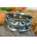 Vintage Hearts Sterling Silver Band Ring Openwo... - $24.95