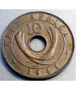 1941 BRITISH EAST AFRICA - Ten Cents - Unique L... - $13.95