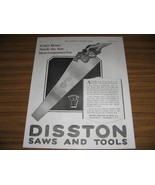 1920 Vintage Ad Disston Saws and Tools Philadelphia,PA - $9.95