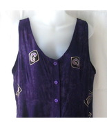 New batik purple sleeveless rayon medium dress ... - $20.00