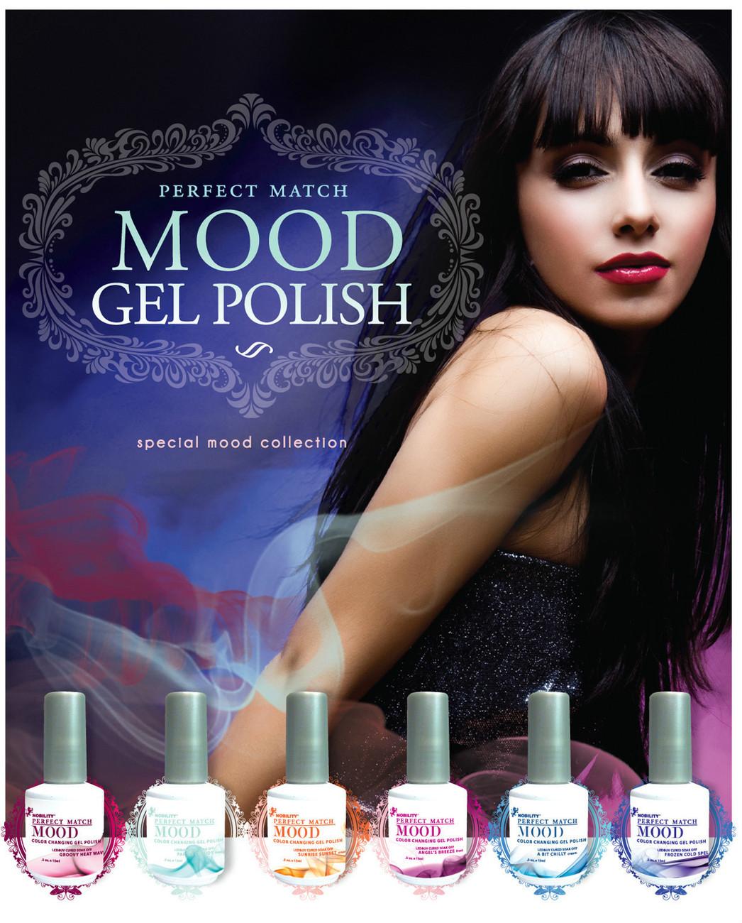lechat perfect match mood color changing gel polish 6 color set 5 oz gel shellac polish. Black Bedroom Furniture Sets. Home Design Ideas