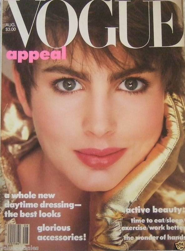 VOGUE FASHION MAGAZINE Aug 1985 ALEXA SINGER COVER