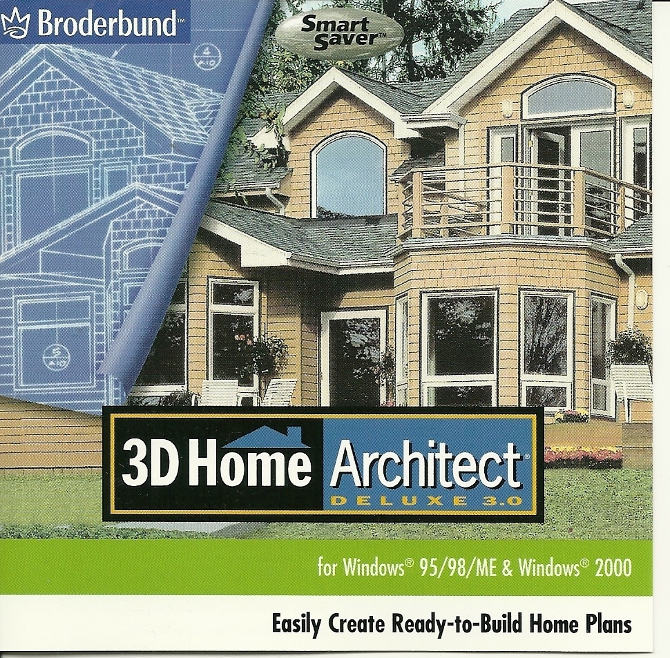 3D Home Architect Deluxe 30 CD By Broderbund