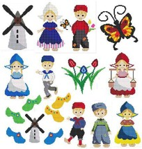 Dutch Kids cross stitch chart Cross Stitch Wonders - $12.60