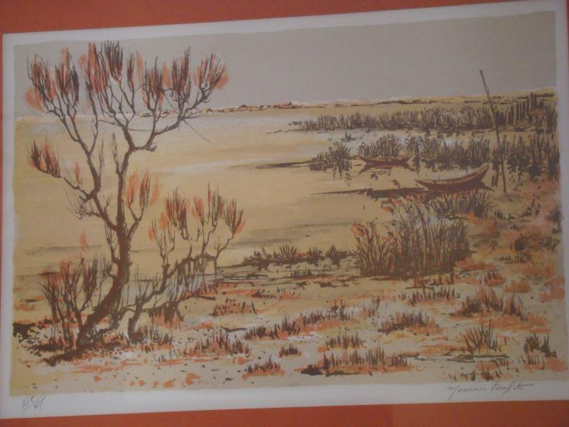 Listed MAURICE BUFFET Signed Seascape Framed Lithograph