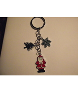Handcrafted silver tone holiday Christmas keyri... - $4.99