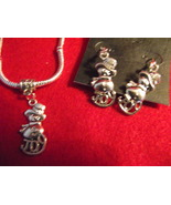 Handcrafted silver tone Christmas snowman Joy b... - $18.99