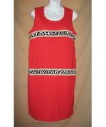 M New Bloomingdales Dress Jumper Red Animal Acc... - $15.99
