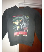 VTG WWF HULK HOGAN RULES Sweat Shirt Black Yout... - $19.99