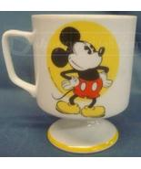 Disney Mickey Mouse Vintage Yellow Porcelain Co... - $14.99