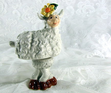 Wiggly Ceramic Sheep
