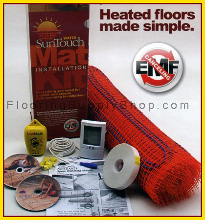 Radiant Floor Heating Mat Kits 120 sq - 2ft Wide