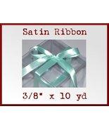 Aqua Satin Single Face Polyester Ribbon 3/8 x 10yd - $2.48