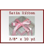 Pink Satin Single Face Polyester Ribbon 3/8 x 10yd - $2.48