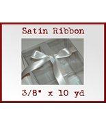 White Satin Single Face Polyester Ribbon 3/8 x ... - $2.48