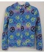Girls Energie Blue Multi Color Fleece Hooded Fu... - $7.50