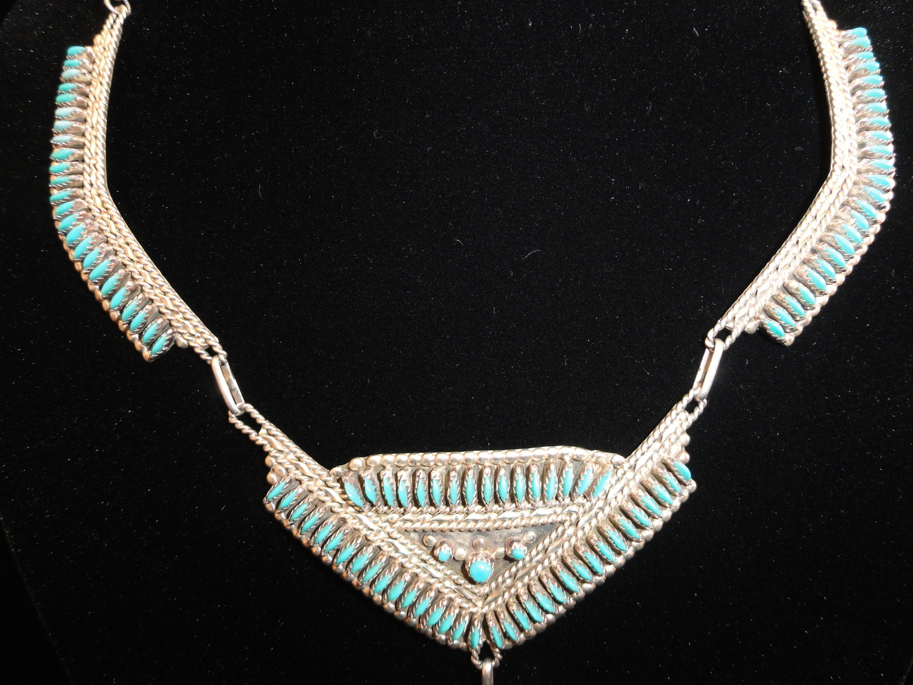 Nativeamericanzunisterlingneedlepointturquoisenecklace__3_