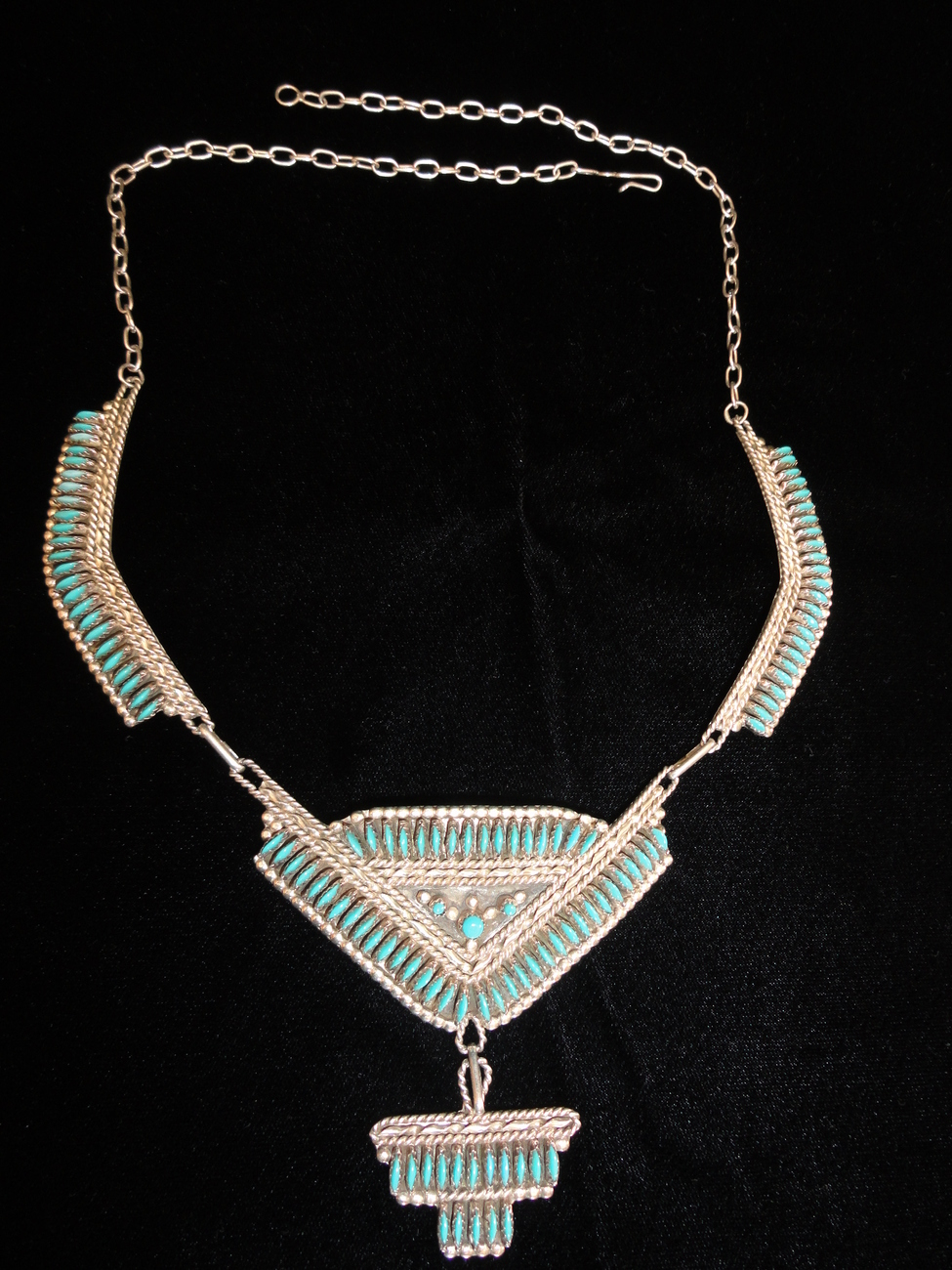 Nativeamericanzunisterlingneedlepointturquoisenecklace__5_