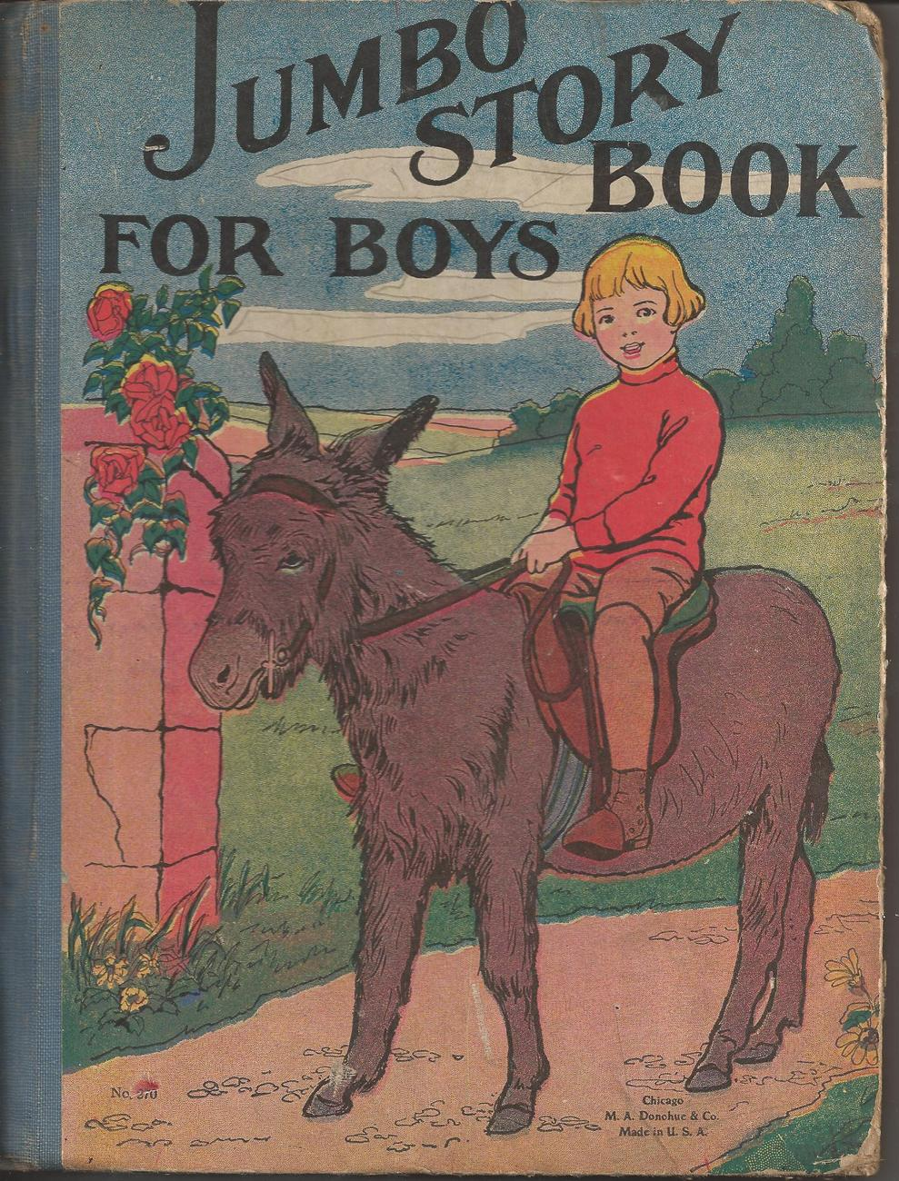 "1905 Hardcover Book ""Jumbo Story Book for Boys"" by E.T. Roe"