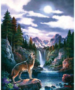 Wolf Moon Howling 1500 piece Jigsaw Puzzle Suns... - $16.20