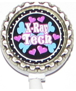 X ray Tech 2 ID badge holder w retractable reel 15