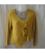 Mustard yellow Putorti cotton & acrylic medium ... - $20.00