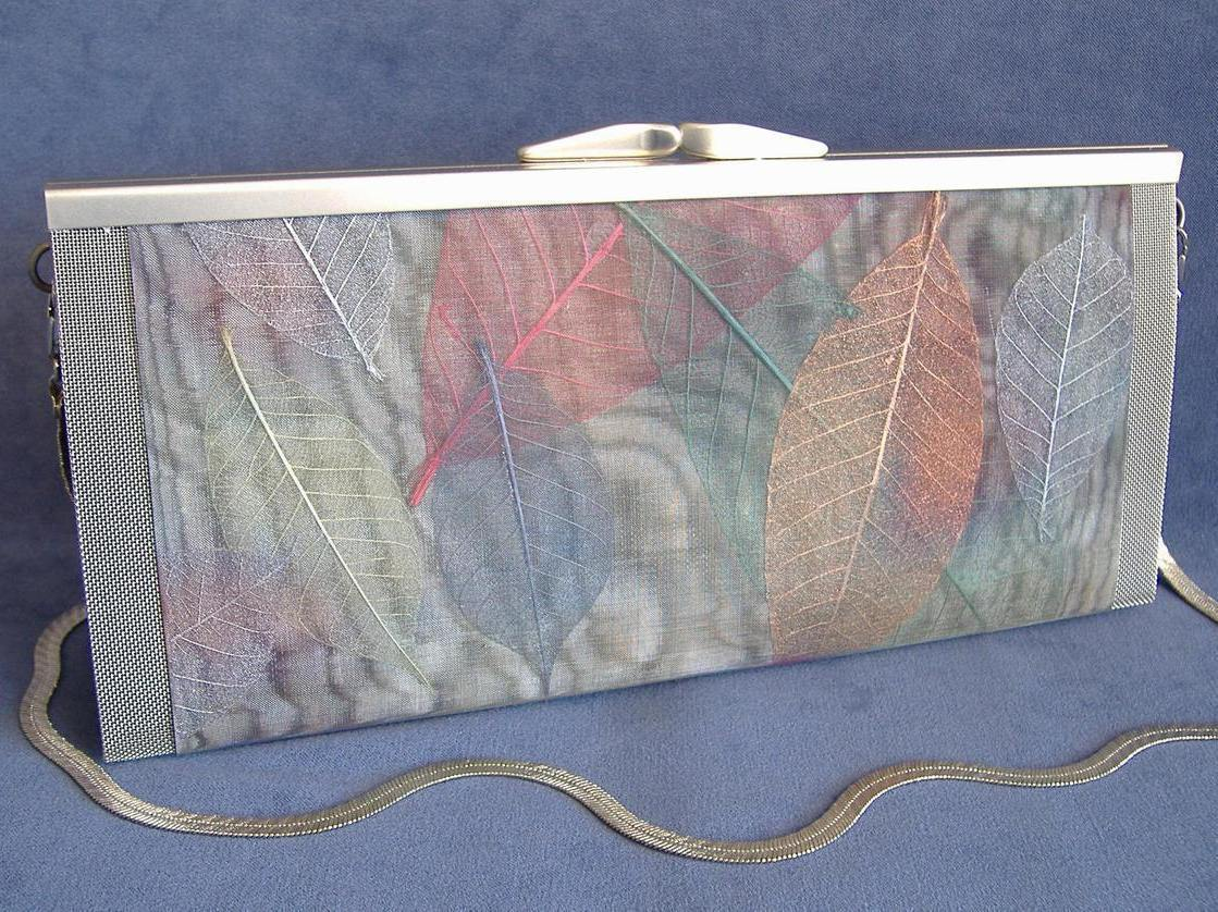 Juliet Long Leaves Purse Wire Mesh Unique Handbag Clutch Shoulder Strap