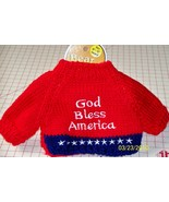 Bear Doll Dog Sweaters Red God Bless America 10... - $8.95