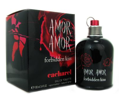 Amor Amor Forbidden Kiss by Cacharel 3.4oz / 100 ml EDT Spray - New in Box