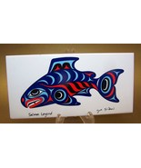 Joe Wilson Coast Salish Art Tile Salmon Legend - $4.00