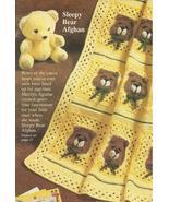 Sleepy Bears Baby Afghan Granny Squares Crochet... - £10.33 GBP