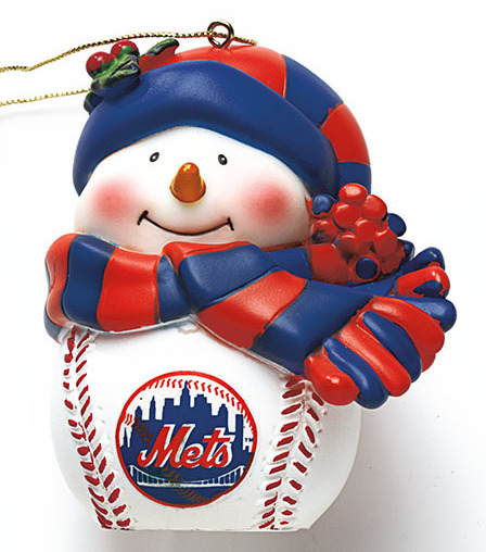 New York Met MLB Musical Lighted Ornament