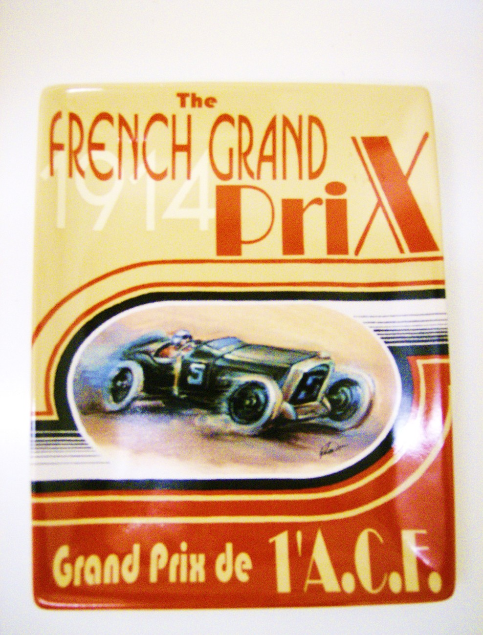 "Decor Plate ""The French Grand Prix 1914"""