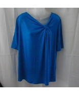 New Ellen Tracy short-sleeved large cobalt blue... - $20.00