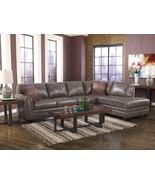 MAX-2pcs MODERN GRAY BONDED LEATHER SOFA COUCH ... - $1,275.86