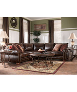 AMBER-TRADITIONAL BONDED LEATHER SOFA COUCH SEC... - $1,295.75