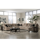 SORENTO-5pcs OVERSIZED MODERN BEIGE FABRIC SOFA... - $2,265.86
