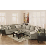 WARREN - 4pcs OVERSIZED MODERN GRAY FABRIC SOFA... - $1,768.89