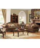 ODESSA-TRADITIONAL BROWN WOOD TRIM CHENILLE SOF... - $2,285.75