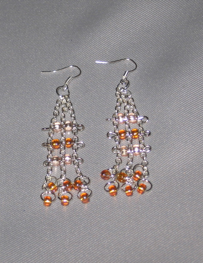 SALE $2 OFF -- Striking French Hook Earrings with Pink Czech Glass