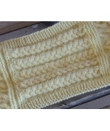 hand knitted 7 cables sampler neck scarf apx 70... - $30.00