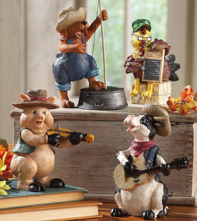 Image 0 of Down On The Farm Country Band Collectible Sitters