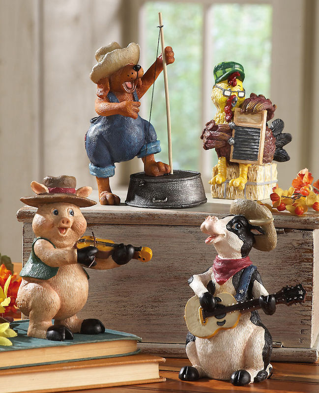 Image 1 of Down On The Farm Country Band Collectible Sitters