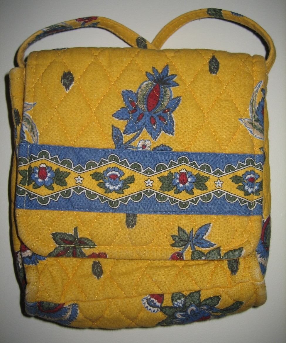 Vera Bradley french yellow floral print swing purse
