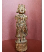 Antique Indian Wood Carving of a Man 19'th Centruy - $155.00