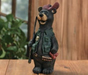 Hunter Resin Bear With Gun