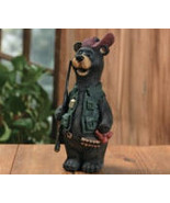 Hunter Resin Bear With Gun & Ready To Go - $12.95