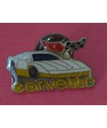 vintage enamel Corvette lapel pin Chevy Chevero... - $0.99