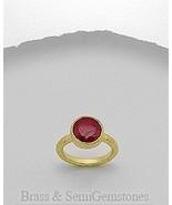Beautiful Designer cocktail ring gemstone ruby ... - $24.41