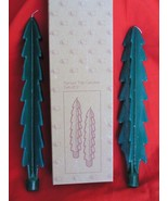 Christmas Spruce Tree Shaped Taper Candles -Set of 2 - $14.99